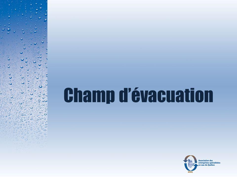 Champ d'évacuation