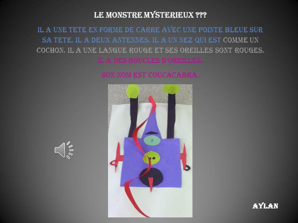 Le monstre mysterieux