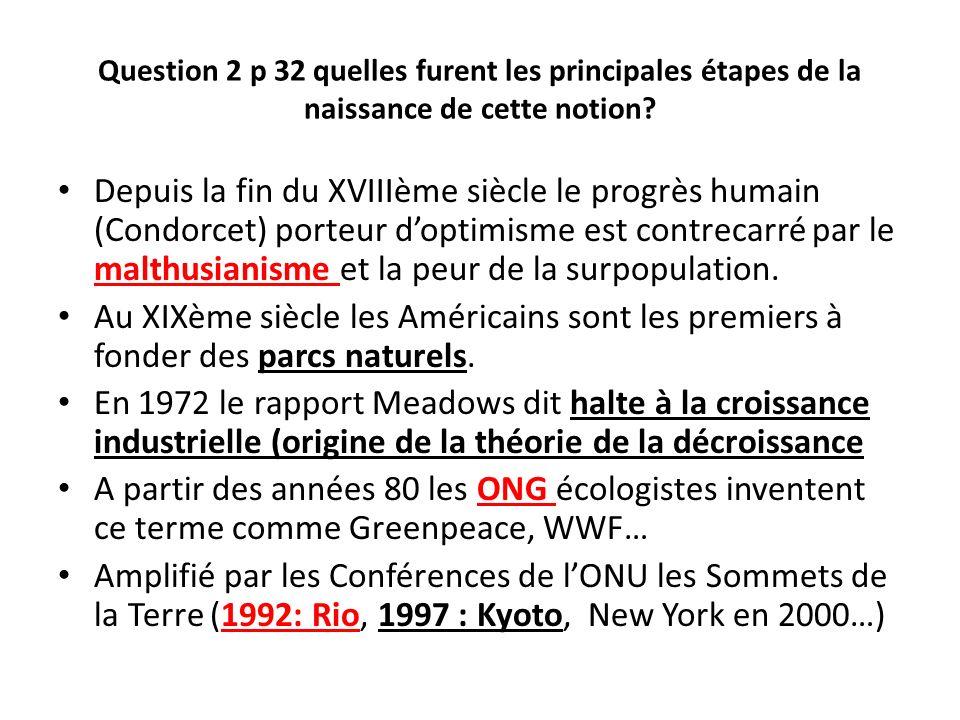 Question 2 p 32 quelles furent les principales étapes de la naissance de cette notion
