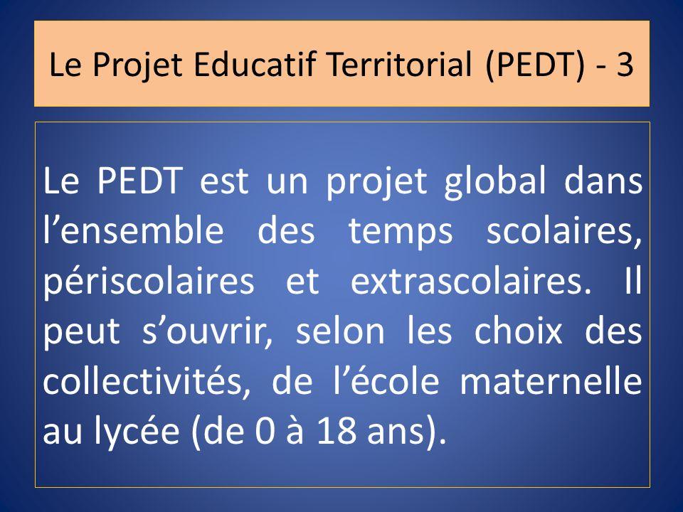 Le Projet Educatif Territorial (PEDT) - 3