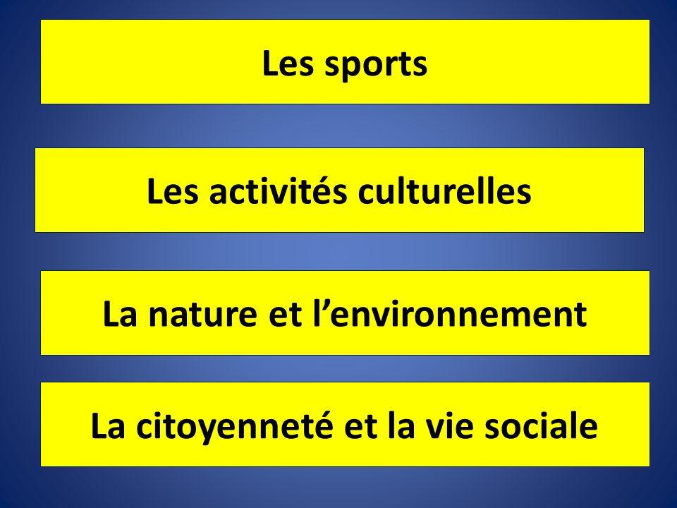 Les activités culturelles