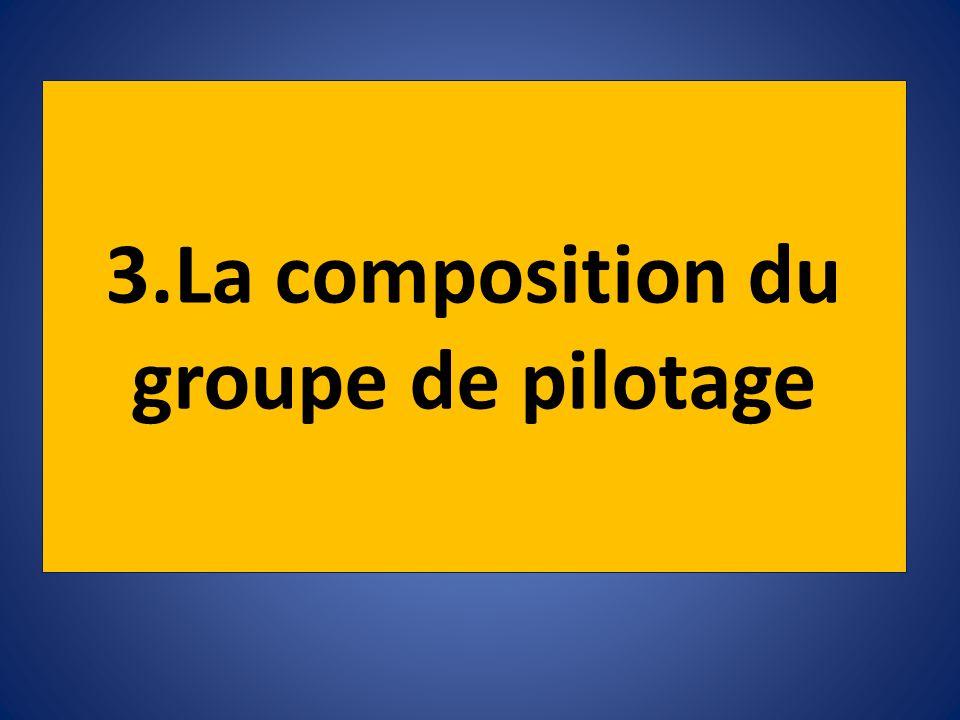 3.La composition du groupe de pilotage