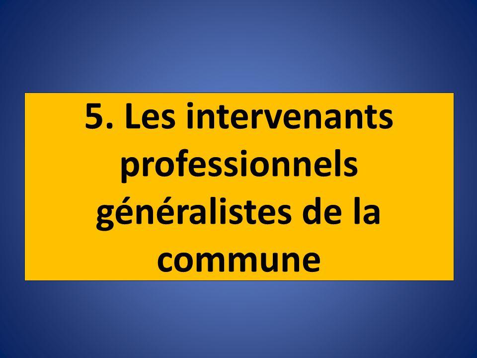 5. Les intervenants professionnels généralistes de la commune