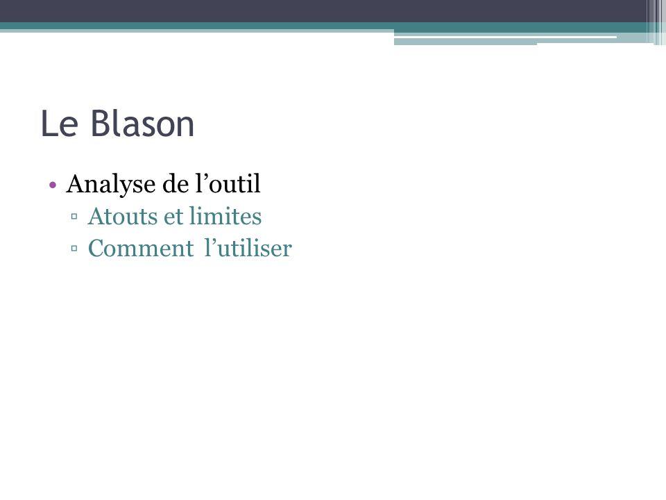 Le Blason Analyse de l'outil Atouts et limites Comment l'utiliser