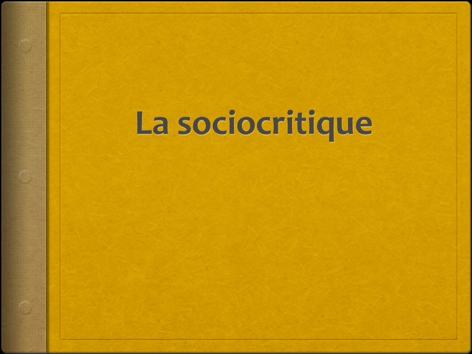 La sociocritique