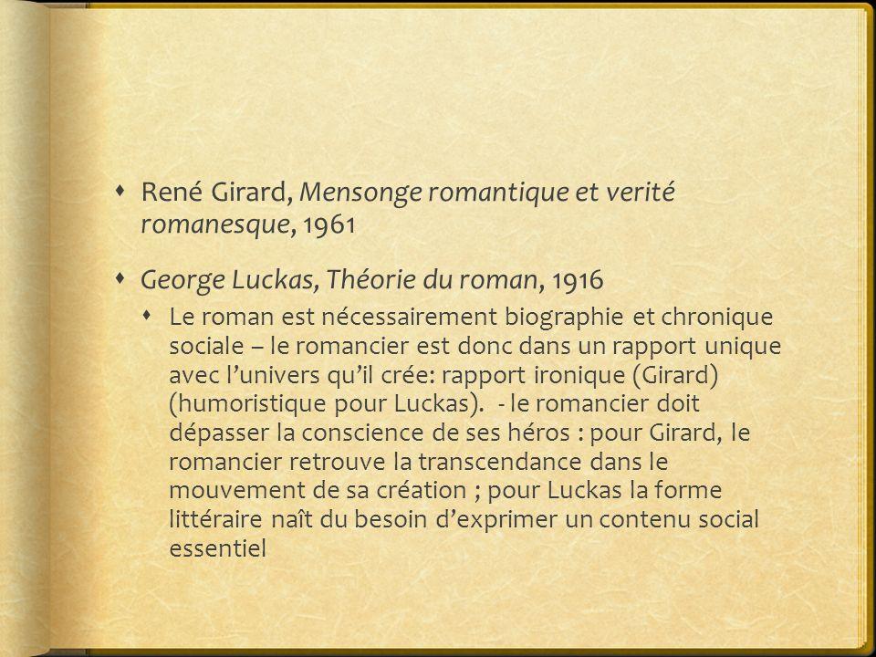 René Girard, Mensonge romantique et verité romanesque, 1961