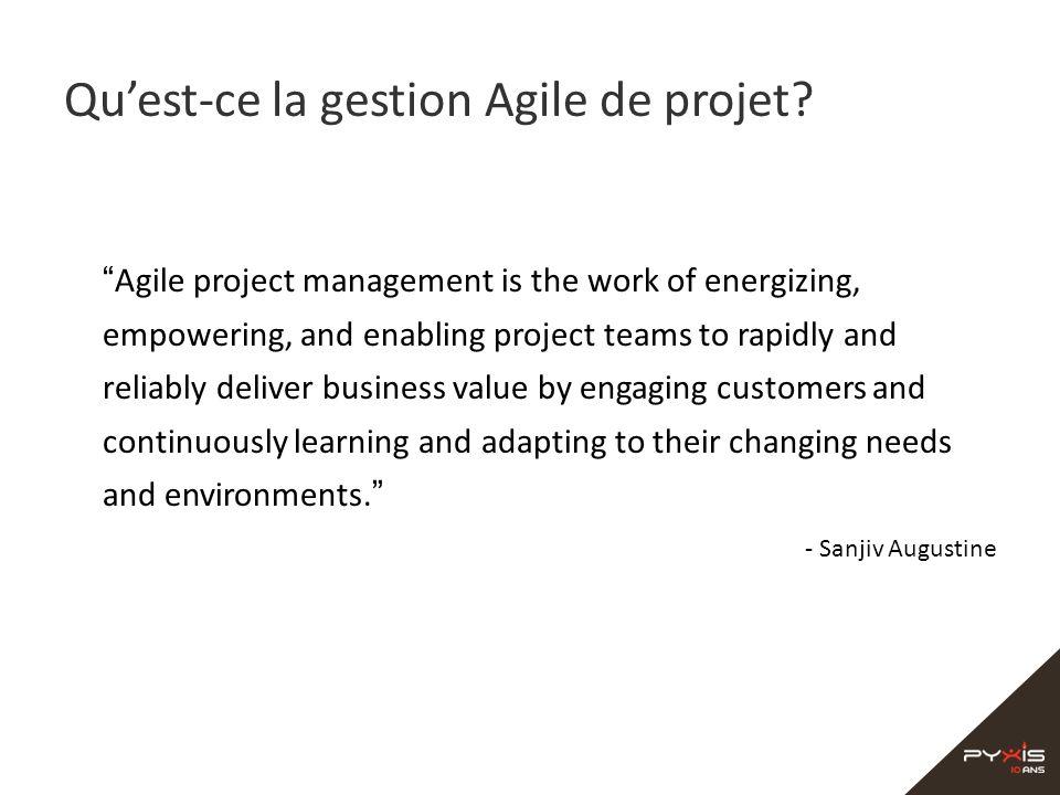 Qu'est-ce la gestion Agile de projet