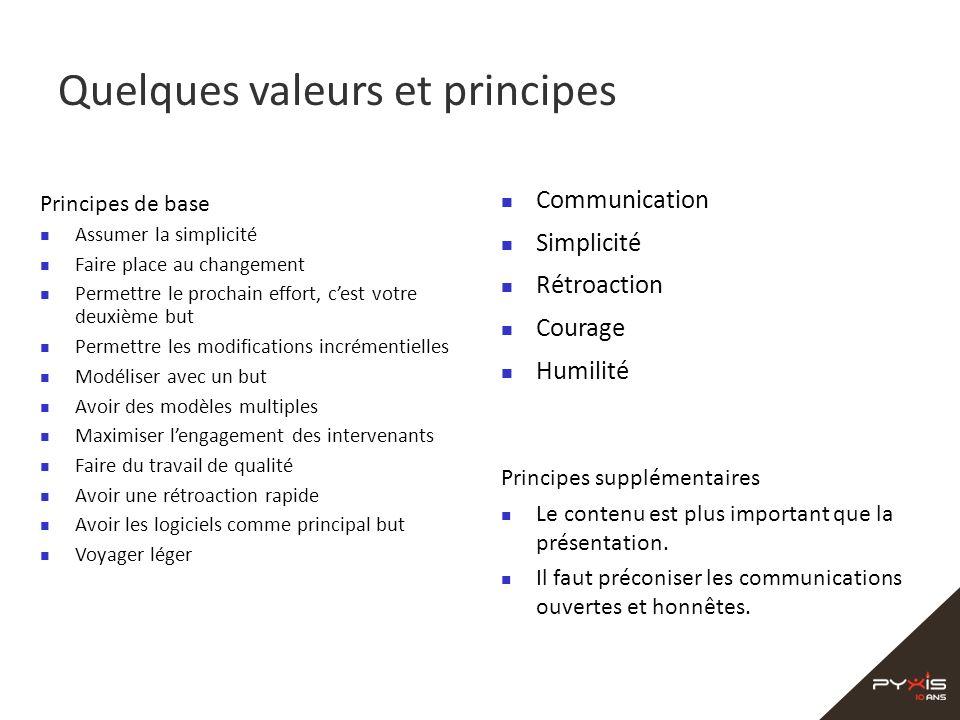 Quelques valeurs et principes