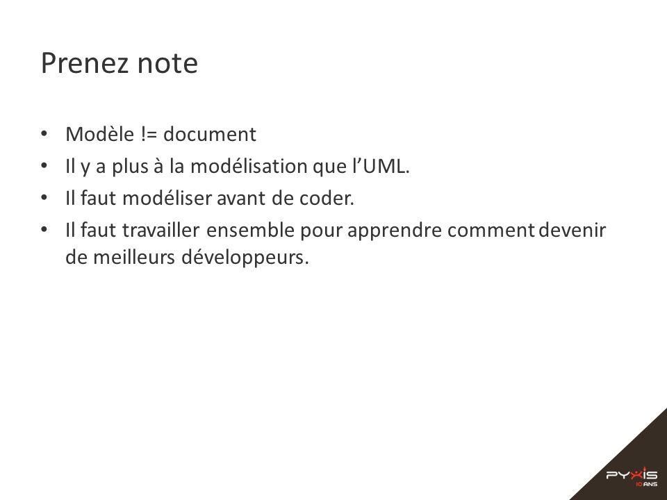 Prenez note Modèle != document