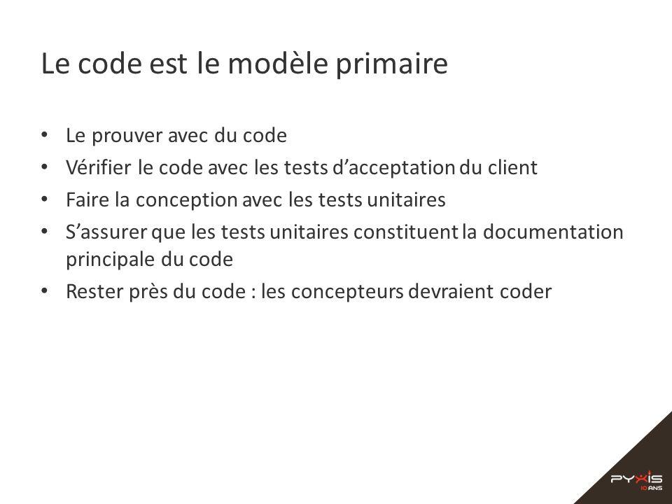 Le code est le modèle primaire