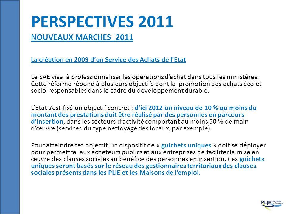 perspectives 2011 Nouveaux marches 2011