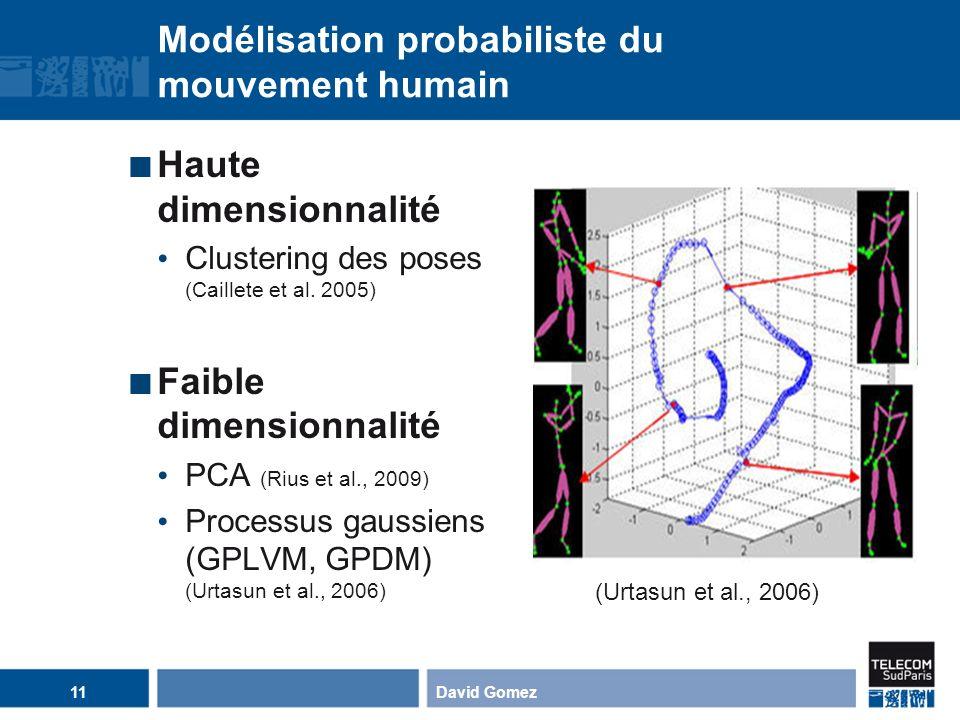 Modélisation probabiliste du mouvement humain