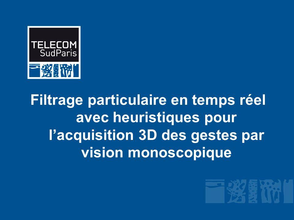 Filtrage particulaire en temps réel avec heuristiques pour l'acquisition 3D des gestes par vision monoscopique