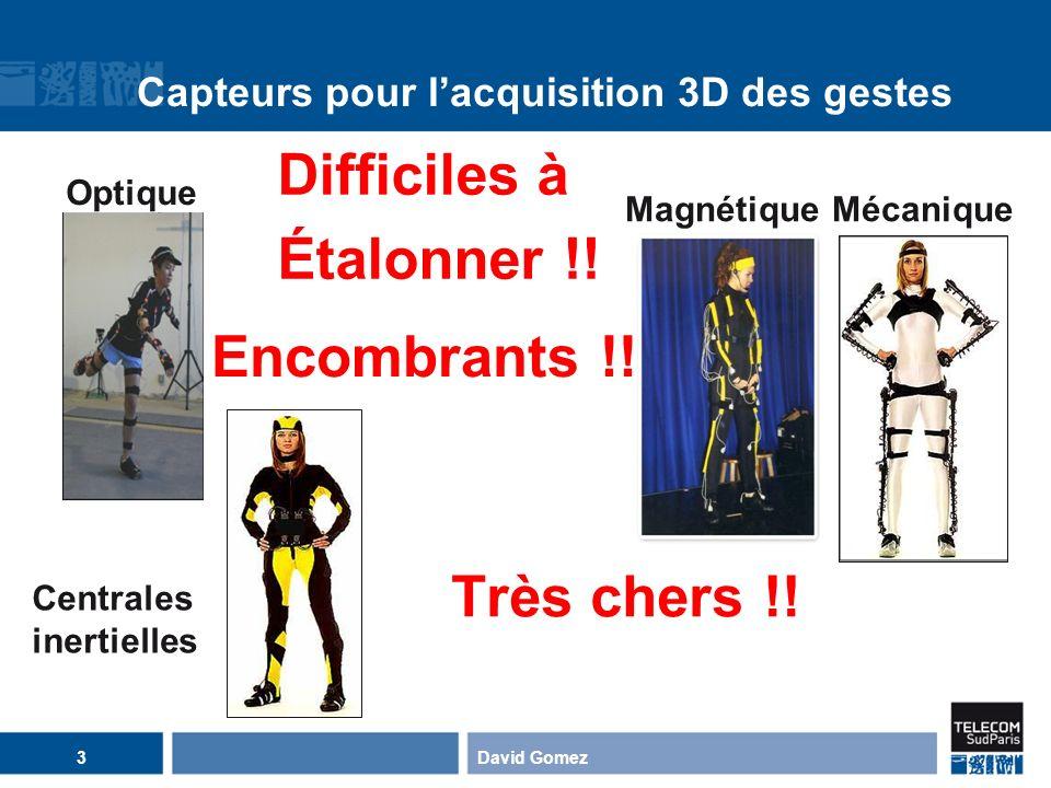 Capteurs pour l'acquisition 3D des gestes