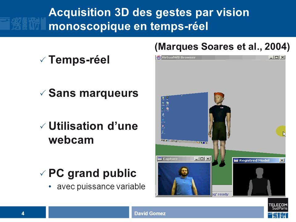 Acquisition 3D des gestes par vision monoscopique en temps-réel