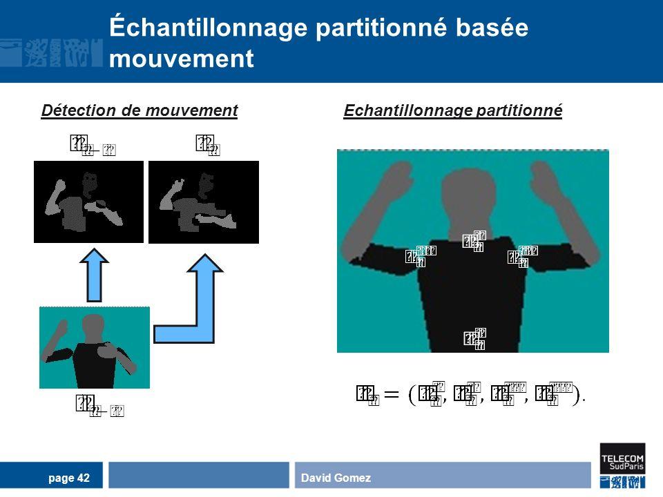 Échantillonnage partitionné basée mouvement