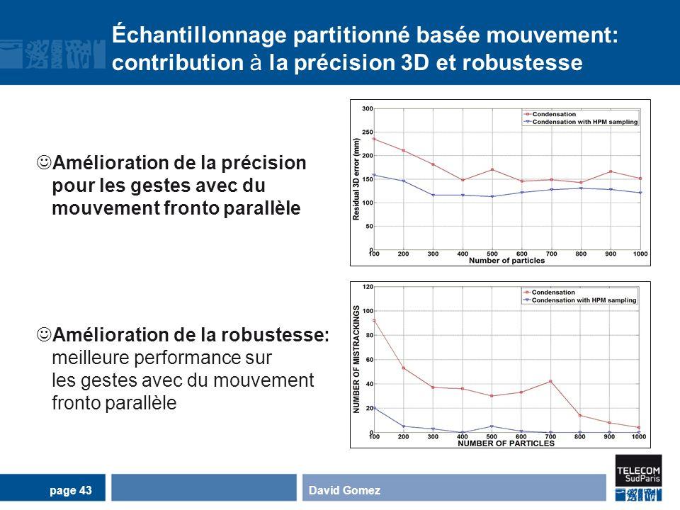 Échantillonnage partitionné basée mouvement: contribution à la précision 3D et robustesse