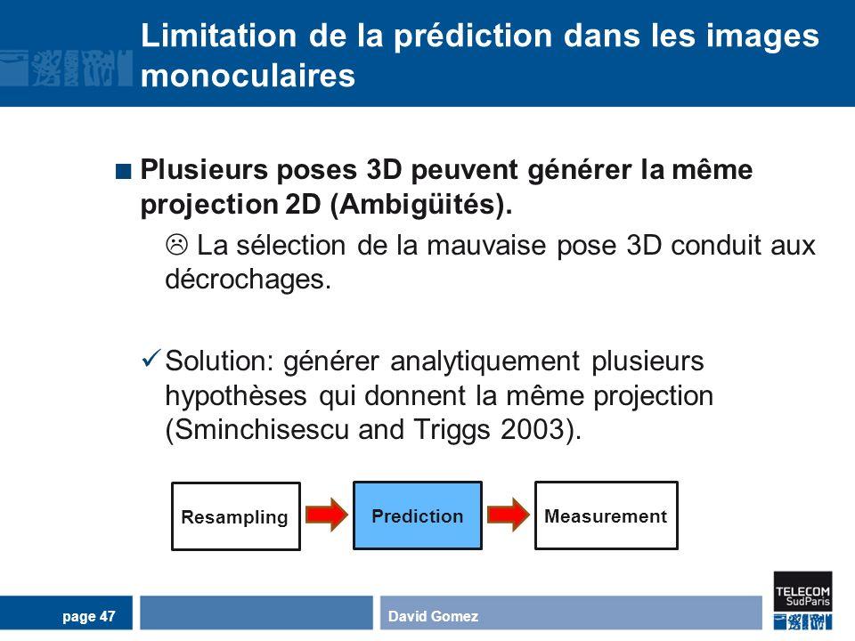 Limitation de la prédiction dans les images monoculaires