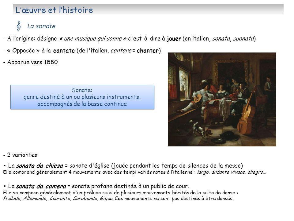 L'œuvre et l'histoire La sonate