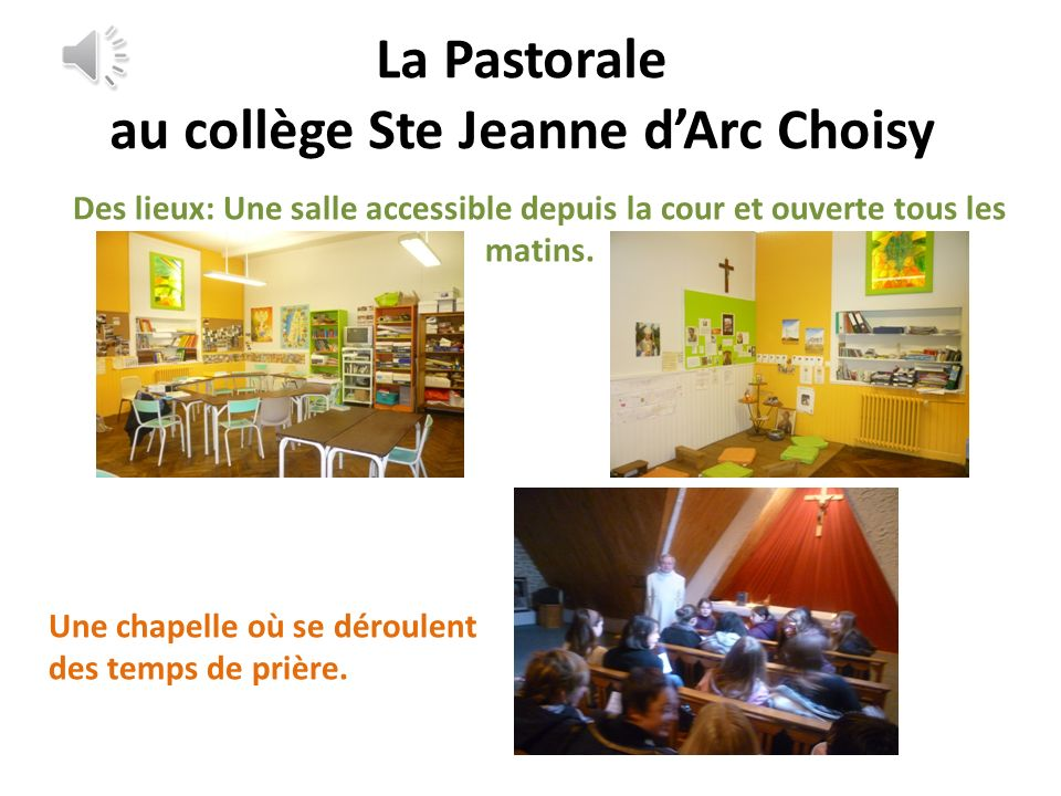 La Pastorale au collège Ste Jeanne d'Arc Choisy