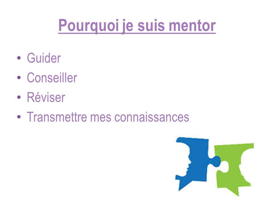 Pourquoi je suis mentor