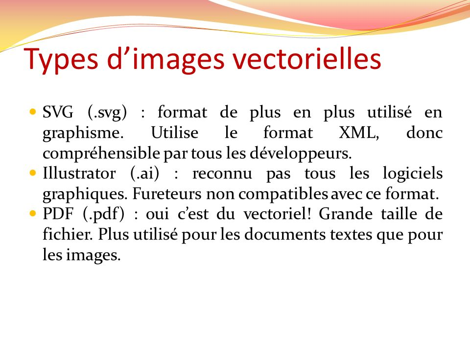 Types d'images vectorielles