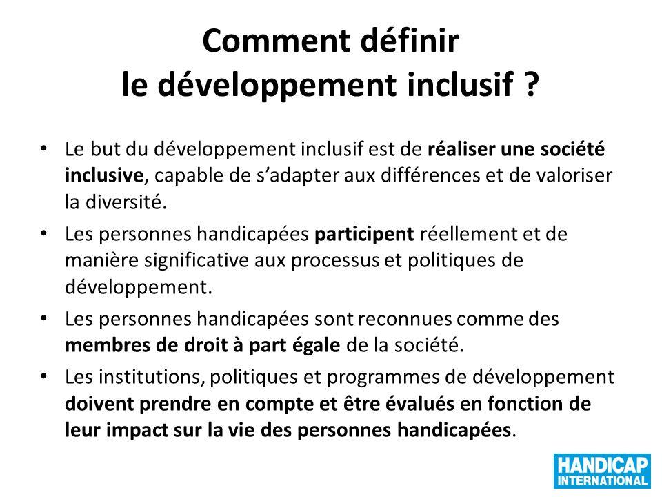 Comment définir le développement inclusif