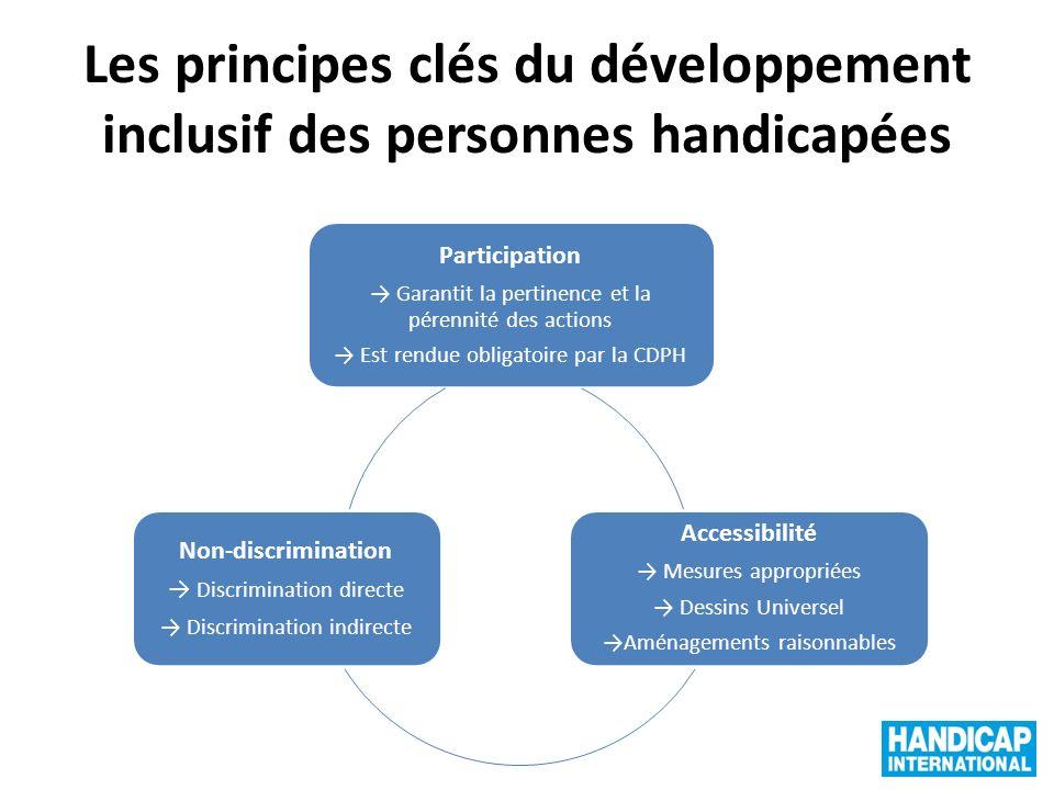 Les principes clés du développement inclusif des personnes handicapées
