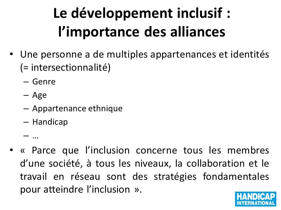 Le développement inclusif : l'importance des alliances