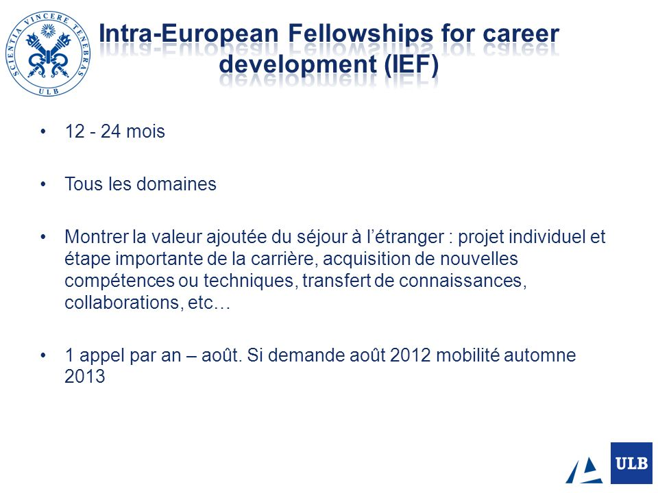 Intra-European Fellowships for career development (IEF)