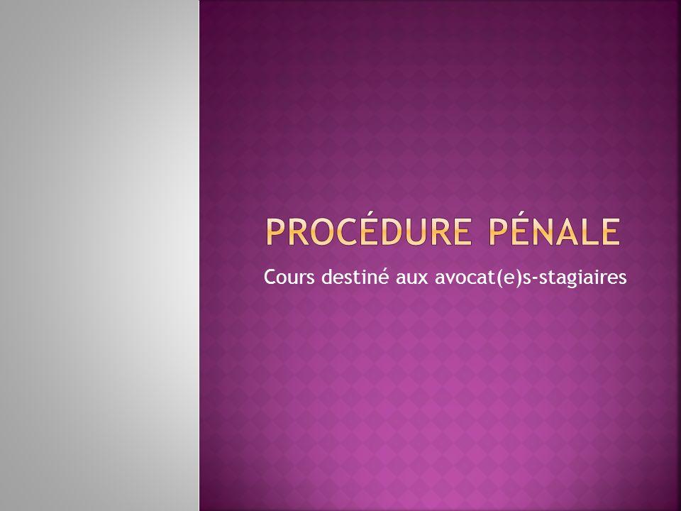 Cours destiné aux avocat(e)s-stagiaires