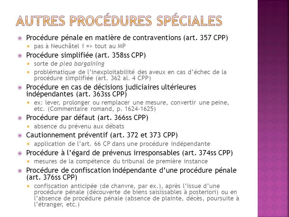 Autres procédures spéciales