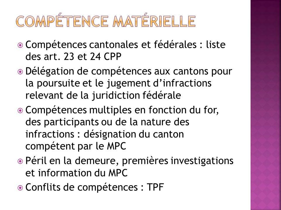 Compétence matérielle