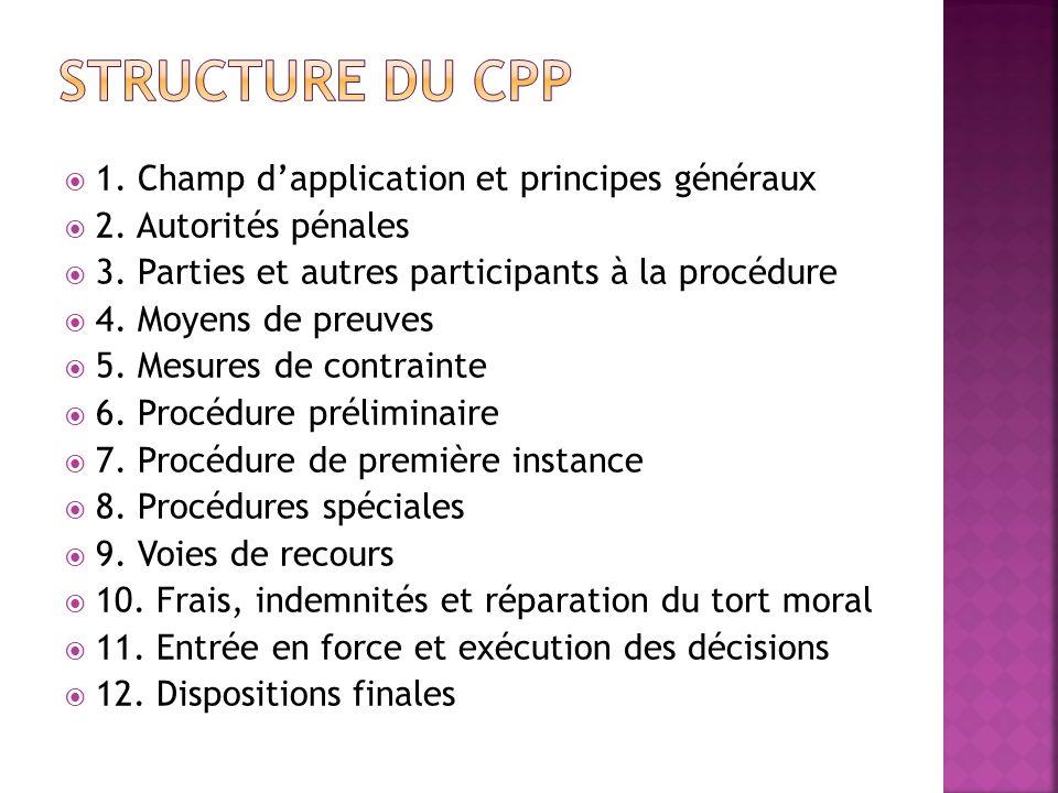 Structure du cpp 1. Champ d'application et principes généraux