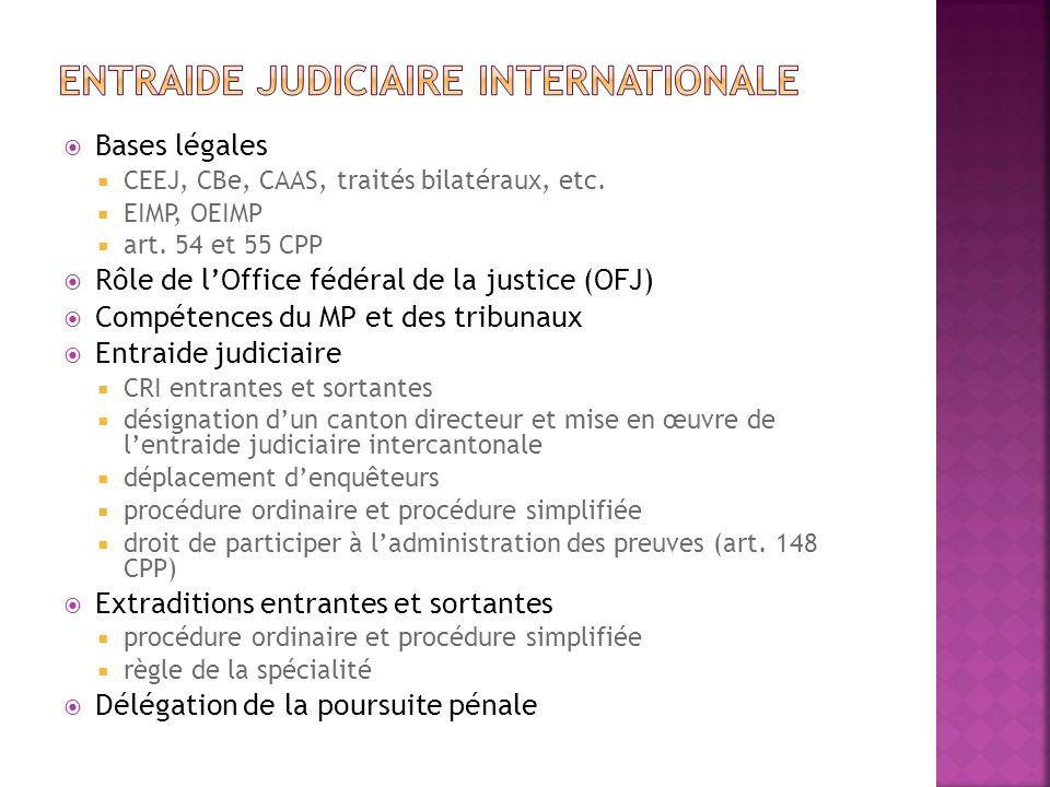 Entraide judiciaire internationale