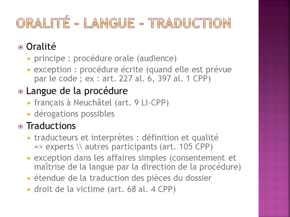 Oralité – langue – traduction
