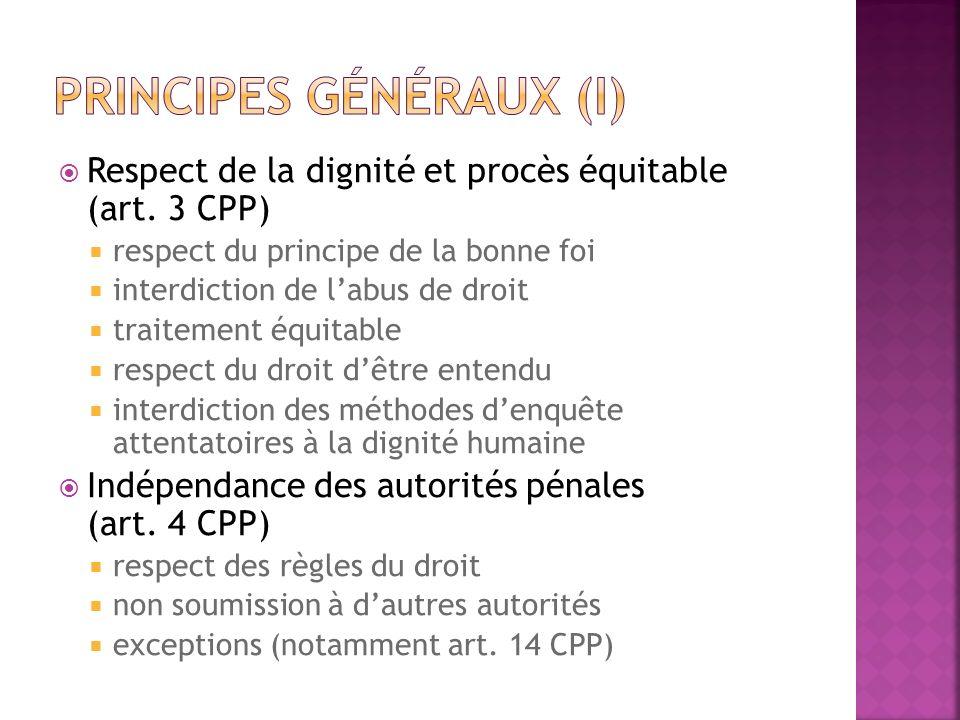 Principes généraux (I)