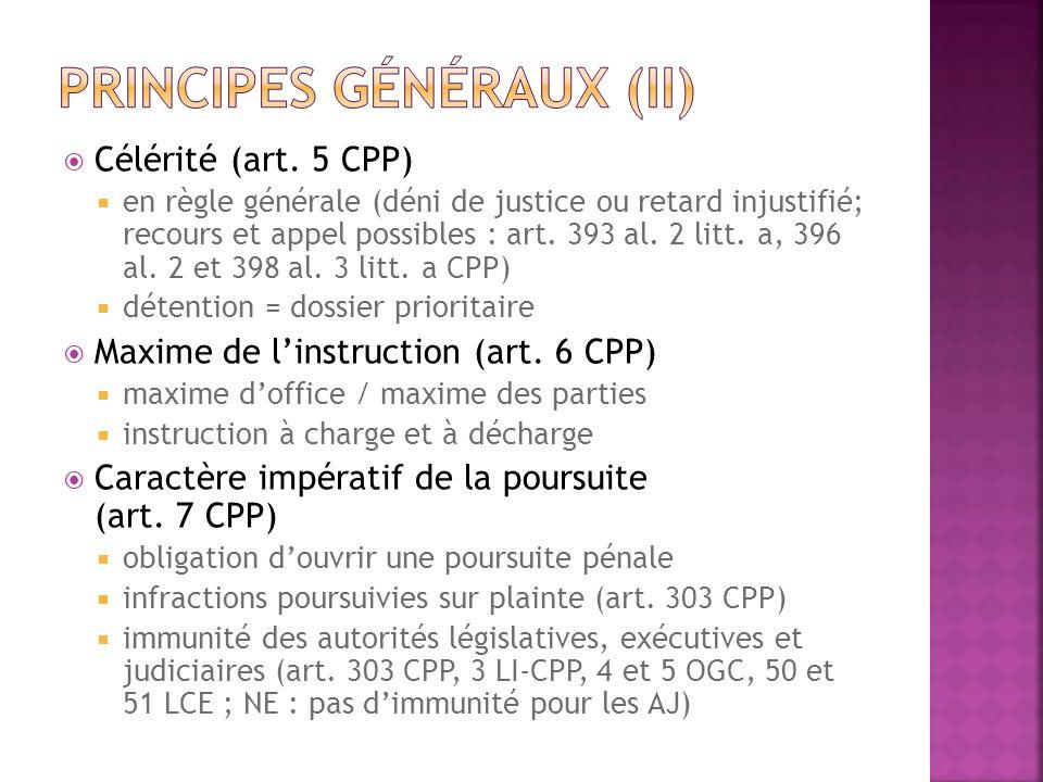 Principes généraux (II)