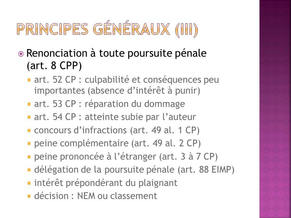 Principes généraux (III)