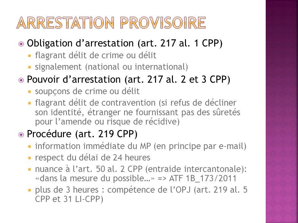 Arrestation provisoire