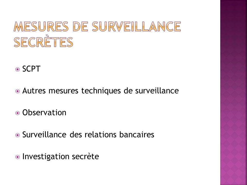 Mesures de surveillance secrètes