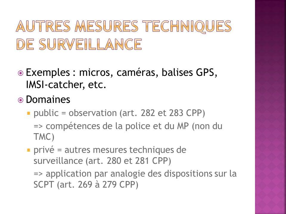 Autres mesures techniques de surveillance
