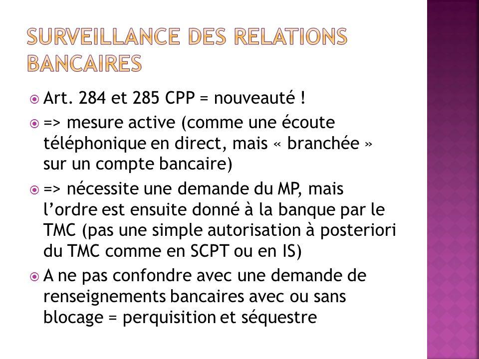 Surveillance des relations bancaires
