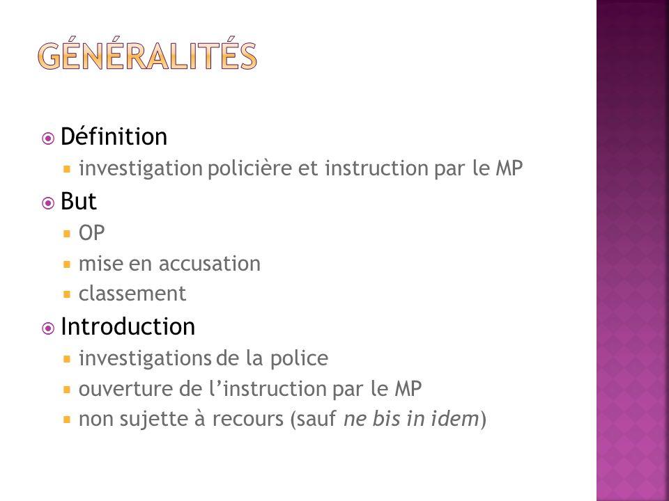 Généralités Définition But Introduction