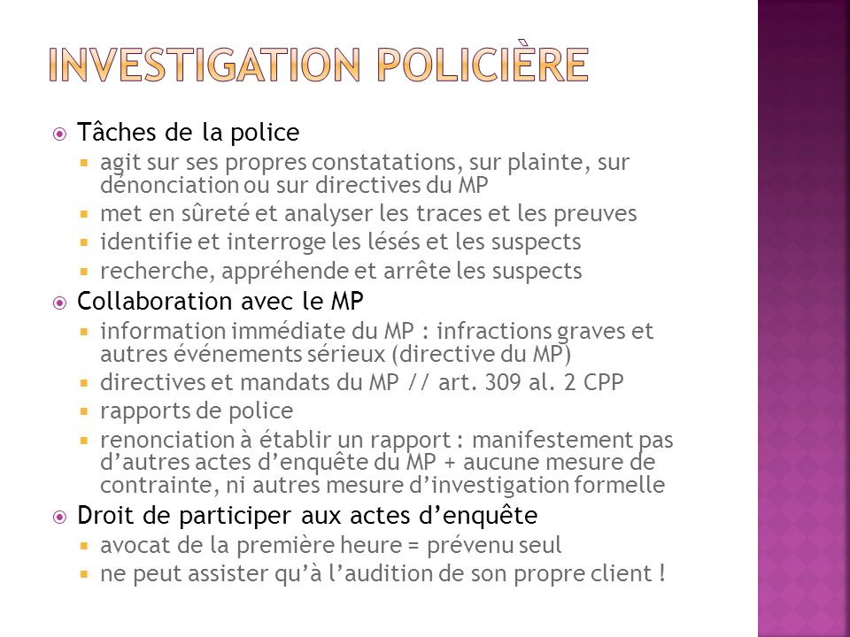 Investigation policière