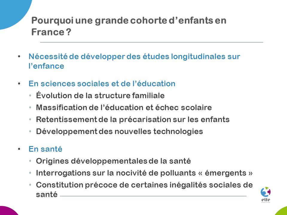Pourquoi une grande cohorte d'enfants en France