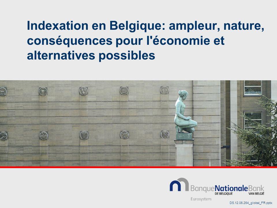 Indexation en Belgique: ampleur, nature, conséquences pour l économie et alternatives possibles