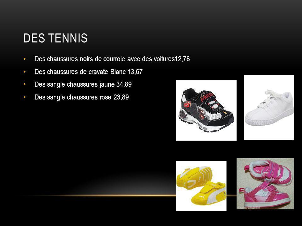 Des tennis Des chaussures noirs de courroie avec des voitures12,78