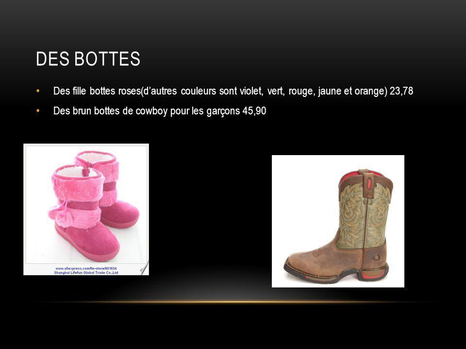 Des bottes Des fille bottes roses(d'autres couleurs sont violet, vert, rouge, jaune et orange) 23,78.