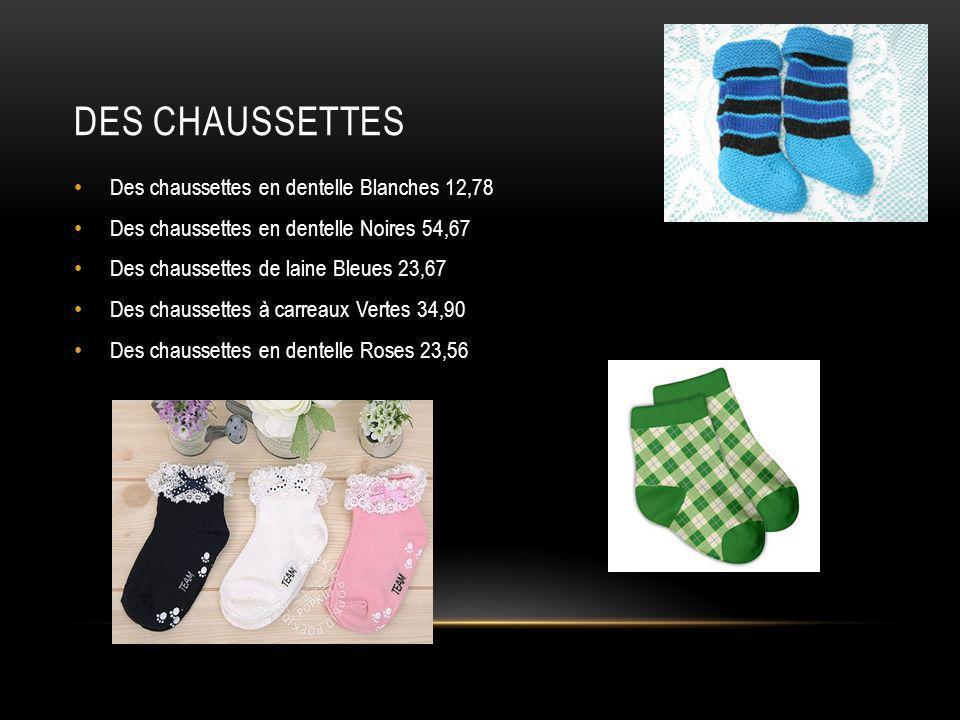 Des chaussettes Des chaussettes en dentelle Blanches 12,78